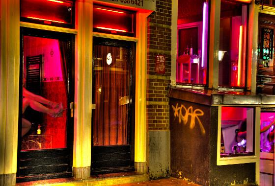 квартал красных фонарей фото