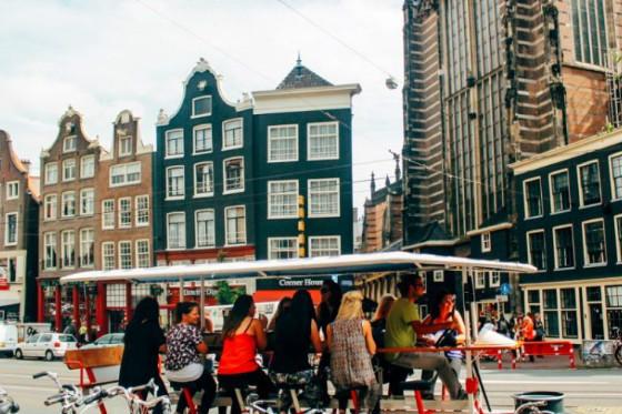 пивной велосипед Амстердам экскурсия