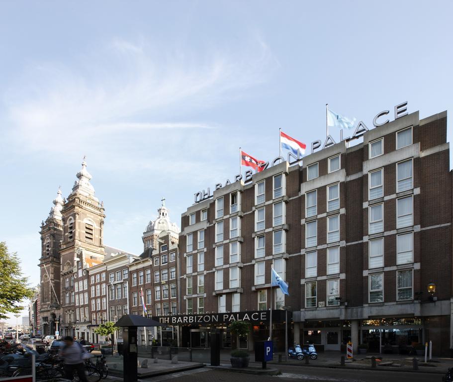 вид на отель NH Barbizon Palace Амстердам